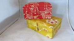 JEWELRY BOXES IN BATIK STYLED FABRIC & ZEBRA PRINT