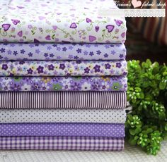 Purple Series bundle cotton fabric bundle DIY by vivianfabric, $14.65