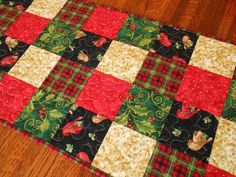 Cowboy Christmas Quilted Table Runner Country by SusiQuilts