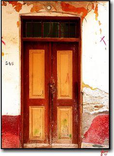 Old house door in Symi island - Greece