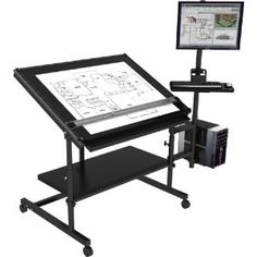 Computer Desk W/ Drafting Table   Excellent