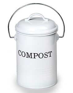 08 gallon kitchen compost waste bin with lid nontoxic leadfree leakproof durable galvanized steel with powder