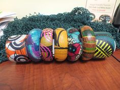 Hand-Made Fabric-Covered Jewellry...Bangles, using African prints, made by SengaRee Accents...