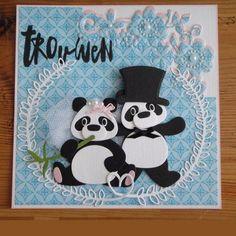Kaartengalerij - Marianne Design Anniversary Crafts, Wedding Anniversary Cards, Wedding Cards, Card Tags, I Card, Marianne Design Cards, Cricut Cards, Animal Cards, Cool Cards