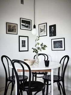 Little eating area with gallery wall. Are you looking for one of a kind photo prints to create your own art wall... Visit bx3foto.etsy.com