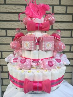 Diaper Cake girl twins Luiertaart tweeling meisjes