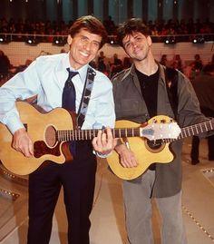 Gianni Morandi con il figlio Marco