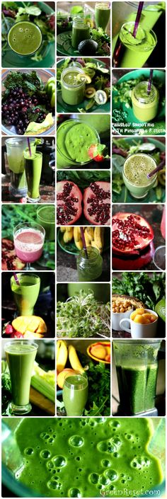 GreenReset.com TONS of green smoothie recipes #Green #Smoothie #Recipe #Healthy #Breakfast