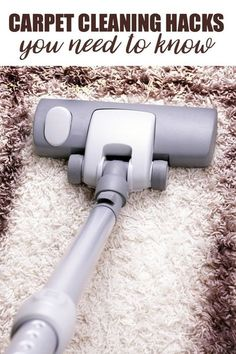 Got carpet in your home? Here are some carpet cleaning hacks you need to know. Learn how to tackle different kinds of stains and keep your carpet fresh. #cleaninghacks