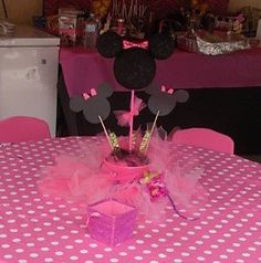 Cute simple, maybe use some of the elephant cupcake toppers we have instead of Minnie mouse