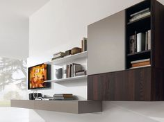 Wooden TV cabinet / wall cabinet e45 by Euromobil