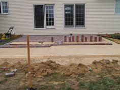 Brick patios make for attractive additions to any home - this'll provide a great place to sit out or grill in the evenings! Brick Patios, Great Places, Landscape, Outdoor Decor, Projects, Home Decor, Log Projects, Scenery, Blue Prints