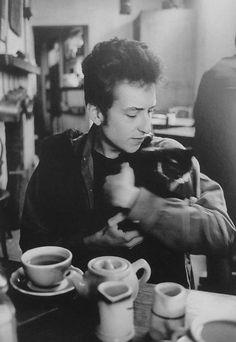 Bob Dylan + cat *-*