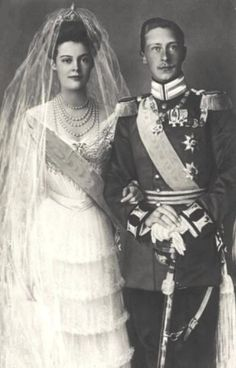 German Crown Princess Cecilie of Mecklenberg-Schwerin and Crown Prince Willhelm wedding
