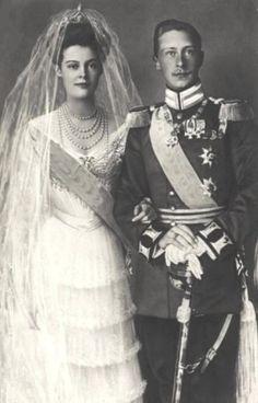 German Crown Princess Cecilie of Mecklenberg-Schwerin and Crown Prince Willhelm wedding