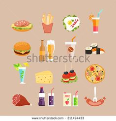 Buy Food Icons by on GraphicRiver. Fast-Food, drinks and rolls in flat style. Be Design, Food Design, Creative Icon, Creative Sketches, Food Icons, Paint Markers, Pencil Illustration, Business Card Logo, How To Better Yourself