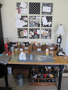 awesome organizational tips. I love this cork board idea. She used cork squares with fabric hot glued onto them and then mounted with 3M adhesive strips. I think I might have to try this. If there was space for these, I might have something similar to this to put up student's work in my future classroom.