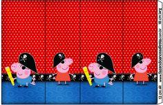 Rótulo Nescauzinho George Pig Pirata (Peppa Pig):