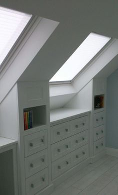 Small Attic Room, Bedroom Storage For Small Rooms, Attic Spaces, Attic Rooms, Small Spaces, Bedroom Small, Attic House, Bed Rooms, Girl Rooms
