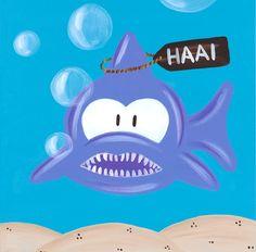 Kinderschilderij Beessie Haai www.beessies.com