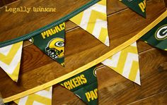 Bunting banner Green Bay Packers football party by LegallyTwinsane, $12.00