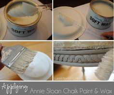 Tips on HowTo apply Annie Sloan Chalk Paint and Wax JennaBurger Annie Sloan Chalk Paint And Wax, Chalk Paint Wax, Using Chalk Paint, Chalk Paint Projects, Annie Sloan Paints, Milk Paint, Paint Ideas, Diy Projects, Chalkboard Paint