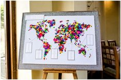 Map of the world seating chart | Community Post: 15 Awesome Ideas For Your Travel Themed Wedding