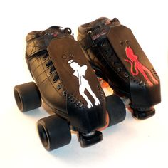 I want these!! - Roller Derby Toe Guards  Angel Devil PinUps by BabyBitch on Etsy