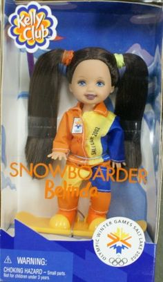 Barbie - Kelly Club Doll Snowboarder Belinda Winter Olymic Games Salt Lake 2002 Mattel http://www.amazon.com/dp/B001H3LPRQ/ref=cm_sw_r_pi_dp_wzHOtb1BA00A53M1