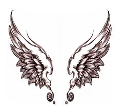 The intricate design of angel wings tattoos are remembered long after people see your tattoo. Description from design.newtattoo.net. I searched for this on bing.com/images