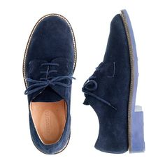 J.Crew - Kids' suede bucks with contrast sole - how cool are these for the boys?