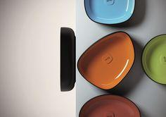 Countertop rectangular washbasin METAMORFOSI | Rectangular washbasin by Olympia Ceramica