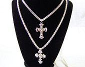 Long Double Chain and Cross Necklace $30.00