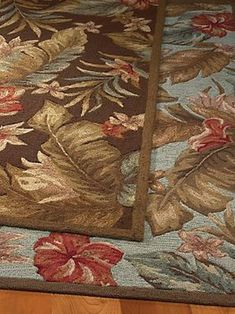 Indoor/Outdoor Tropical Floral Rugs - The Hawaiian Home