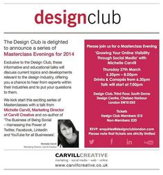 Michelle Carvill delivers Social Media Talk to Chelsea Design Club