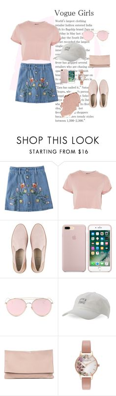 """""""🌸"""" by deichaac on Polyvore featuring Topshop, UGG, LMNT, Body Rags, Sole Society and Olivia Burton"""