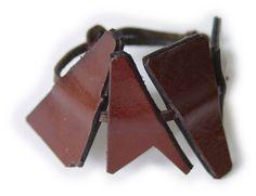 Triptych brown leather bracelet £9.99