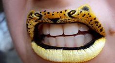 Funny Face Beauty: Love Them or Leave Them: Crazy Lipstick Art Crazy Lipstick, Lipstick Art, Lipsticks, Lipstick Style, Revlon Lipstick, Lipstick Designs, Lip Designs, Lip Art, Makeup Art