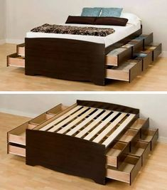 Bed with LOTS OF STORAGE