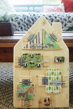 Handcrafted Custom Wooden Toy Busy Board/Latch by WeeLittleNomads