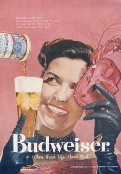 1958 Budweiser Beer Ad Mardi Gras Mask Costume by AdVintageCom