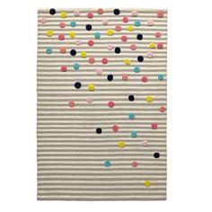 Sprinkled Stripes Kids Rug | The Land of Nod