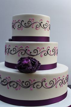 LOVE this!  Very well may be the one!  Purple scroll by Alliance Bakery, via Flickr