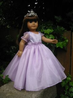 Lavender Princess Gown for American Girl or by CarmelinaCreations