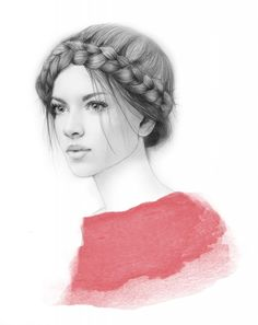 Elisa Mazzone. Fashion illustration on Artluxe Designs. #artluxedesigns