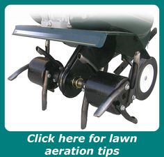 File:Lawn aerator attachment on a garden tiller. Home Vegetable Garden, Home And Garden, Core Aeration, New Roots, Hardy Plants, Breath Of Fresh Air, Planting Seeds, Lawn Care, Hobbies And Crafts
