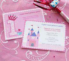 First Birthday Princess Invitations