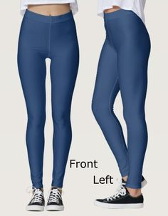 Your All One Color Leggings Called 'Midnight Blue'