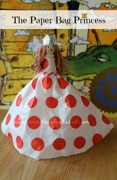 Sun Hats & Wellie Boots: The Paper Bag Princess Puppet - made from a paper ...
