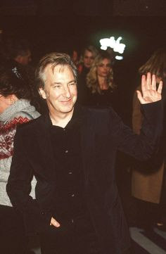 """November 3, 1999 -- Alan Rickman at a screening of """"Ride with the Devil"""" at the 43rd London Film Festival."""